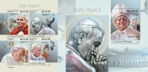 Z08 ST190413ab Sao Tome and Principe 2019 John Paul II MNH ** Postfrisch