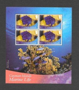 FISH - CAYMAN ISLANDS #1110a YELLOWTAIL DAMSELFISH  MNH