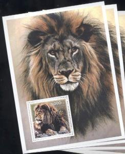 Guinea MNH S/S Lions Wildlife