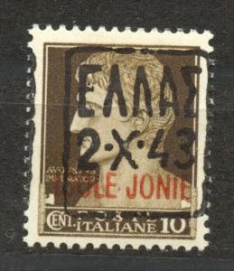 German Occupation Zante, Mi. I I , mint, hinged, no faults, black overprint