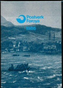 FAROE ISLANDS 1986 OFFICIAL YEAR PACK MINT NH