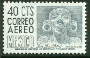MEXICO C444, 40cts 1950 Def 8th Issue Fosforescent glazed. MINT, NH. F-VF.