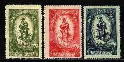 Liechtenstein # 47-49 ~ Cplt Set 3 ~ Mint, HMR ~ cv 1.20
