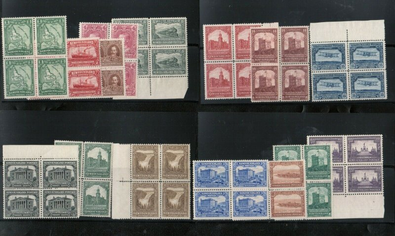 Newfoundland #145 - #159 Very Fine Mint Block Set - Two Or More NH In Each Block