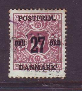 Denmark Sc 149 27 o ovpt on Newspaper stamp used
