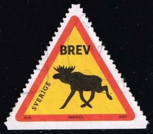 Sweden #2244 Road Sign Elk; Used (1.00)