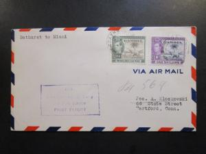 Gambia 1942 First Flight Cover to Miami - Z6319