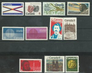 Can #505-07,512-15,531   M NH VF 1970 PD