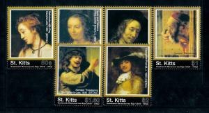 [100171] St. Kitts 2006 Art Paintings Rembrandt  MNH
