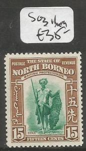 North Borneo SG 311 MOG (6cls)
