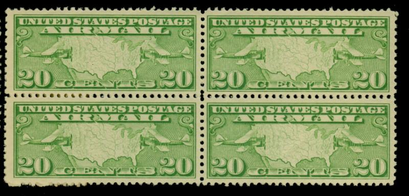 C9 MINT Block F-VF OG NH Cat$54