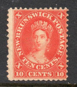 New Brunswick 1860 10c red SG 17 mint