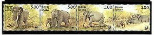Sri Lanka 1986 WWF Ceylonese Elephants Wildlife Animals Fauna Sc 803 MNH # 039