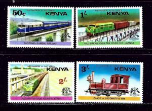 Kenya MNH 64-7 Trains 1976