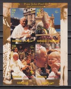 Somalia, 2003 Cinderella issue. Pope John Paul II & Scouts, IMPERF s/sheet.