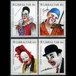 GIBRALTAR 2002 - Scott# 901-4 Europa-Clowns Set of 4 NH