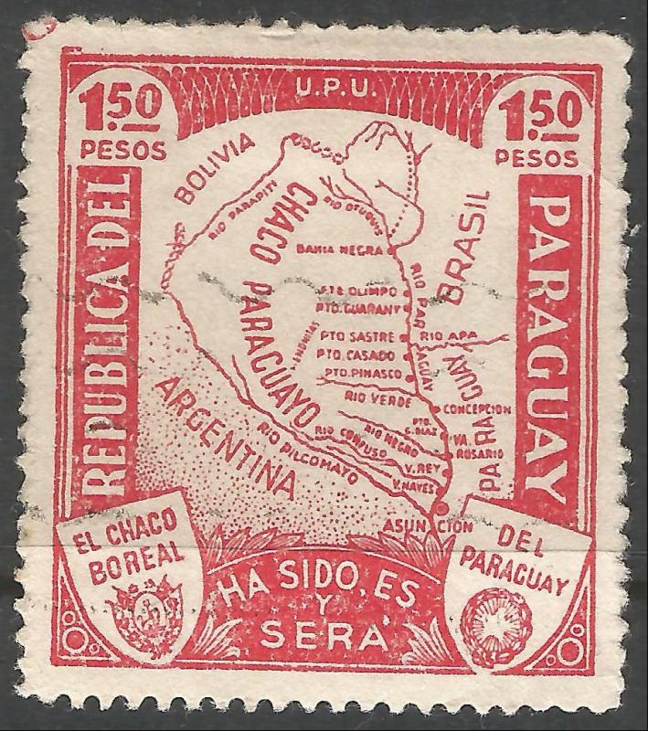 PARAGUAY 324 VFU MAP W622-5