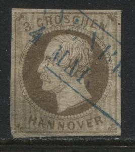 Hanover 1864 3 groschen brown used (JD)