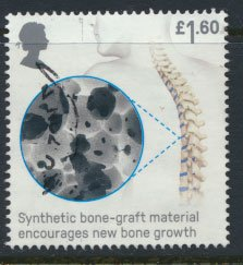 Great Britain Used  Inventions  £1.60 value issued 2019  Bone Graft
