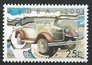 Aruba #207 25c Classic Motor Vehicle 2001 mnh