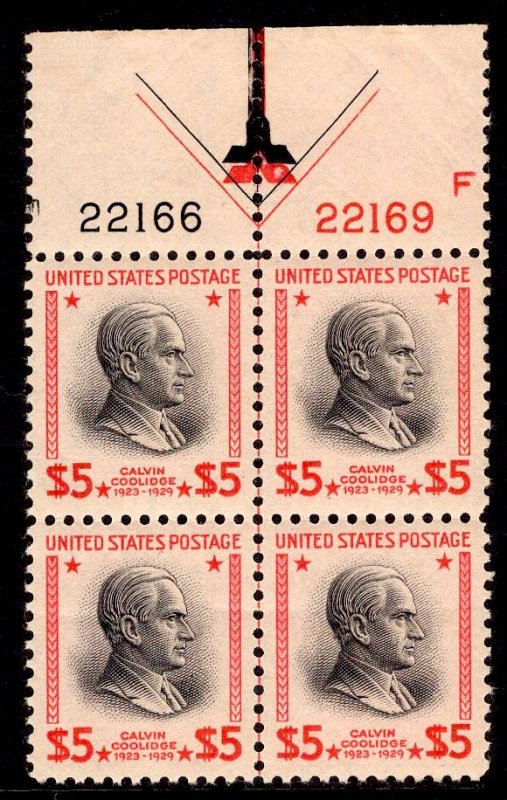 US Stamp #834 Plate Block MINT NH SSCV $325