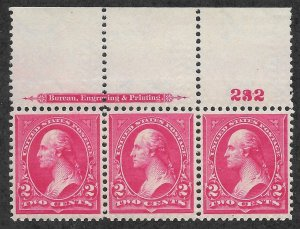 Doyle's_Stamps:MNH 1895 Scott #267** Imprint/Plate #232 Strip of Three 2c