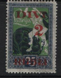 LATVIA, 92, HINGED, 1920-21, SURCHARGED