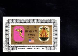 SHARJAH  1972  OLYMPICS MUNICH MEDAL WINNERS   MINT VF LH  S/S  CTO  (SH21 )