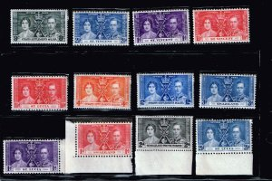 UK STAMP 1937 Coronation ISSUE COLLECTION LOT MNH/OG STAMP COLLECTION LOT #S10