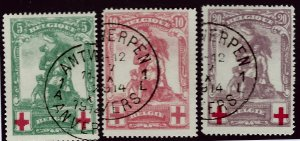 Belgium SC B28-B30 Used Fine hr SCV$83.00...A World of Stamps!