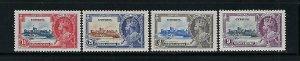 CYPRUS SCOTT #136-39  1935  GEORGE V SILVER JUBILEE - MINT  HINGED