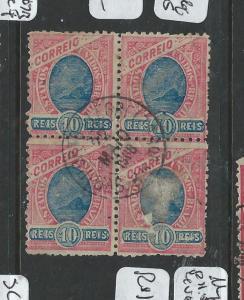 BRAZIL (PP1106B)  10R  MEYER 117A P 11.5   BL OF 4  VFU