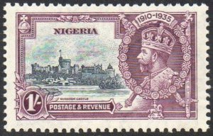 Nigeria 1935 1/- slate and purple (Silver Jubilee) MH