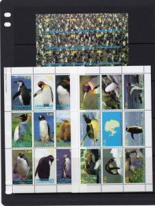 Ukrainian Antartic Post 1998 PENGUINS 2 Shlt(9)+1S/S #10/36 Local Issues Russia