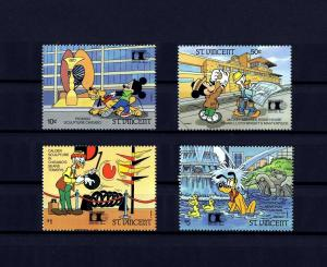 ST VINCENT - 1992 - DISNEY - MICKEY - DONALD - CHICAGO - EXPO - MINT - MNH SET!