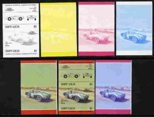 St Lucia 1984 Cars #2 (Leaders of the World) $2 Aston Mar...