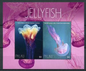 Palau Marine Animals Stamps 2017 MNH Jellyfish Lion's Mane Jelly 2v S/S