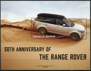 Antigua & Barbuda Cars Stamps 2021 MNH Land Range Rover 50th Anniv 1v S/S
