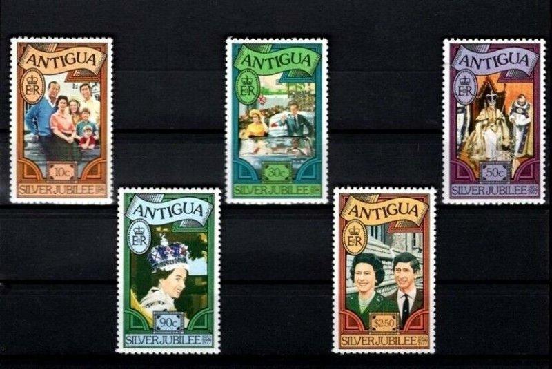 ANTIGUA - 1977 - CORONATION - ROYAL FAMILY - PERF 12 - MINT - MNH SET!