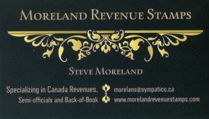 Moreland Revenue Stamps