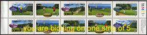 Canada - 1995 Golf Strip of 5 Different VF-NH #1557a