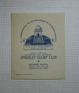 Mckinley Stamp Club Canton OH 100th Anniversary Postage Stamp Expo Souvenir Ad