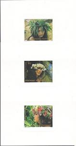 FRENCH POLYNESIA 1983 Floral Crowns set of 3 deluxe proofs..................4060
