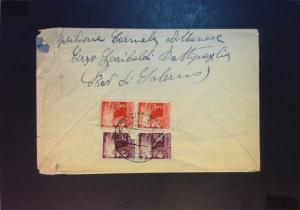 Italy 1946 Cover to USA (20L & 3L) / Stamp On Flap Torn / Creased) - Z832
