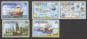 Anguilla Sc# 174-178 MH 1973 Santa Maria
