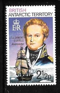 B.A.T. 49: 2.5p J.S.C. Dumont d'Urville (1790-1842), MH, VF