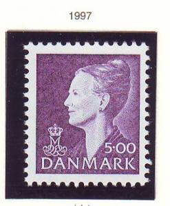 Denmark Sc 903 1997 5.00 kr violet Queen stamp mint NH