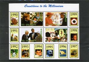 Angola 1999 MILLENNIUM 1990/99 Sheet + labels Perforated Mint (NH)
