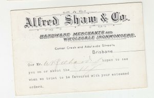 QUEENSLAND, Postal Card PTPO. 1912 1d. Red, ALFRED SHAW & Co, Miles to Gympie