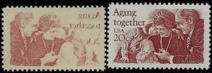 2011- 20c Reverse Offset Image Error / EFO Aging Together Mint NH